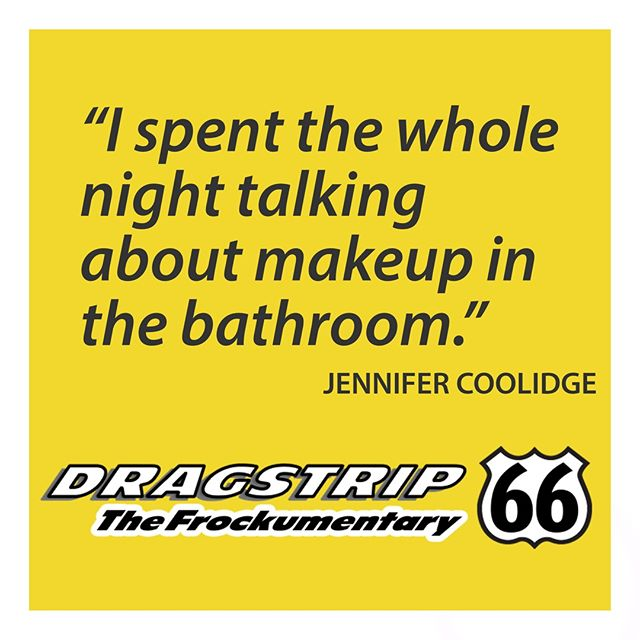 Shout out to #JenniferCoolidge, famous face of #Dragstrip66 the #frockumentary. #picoftheday. #instadrag #rupaulsdragrace