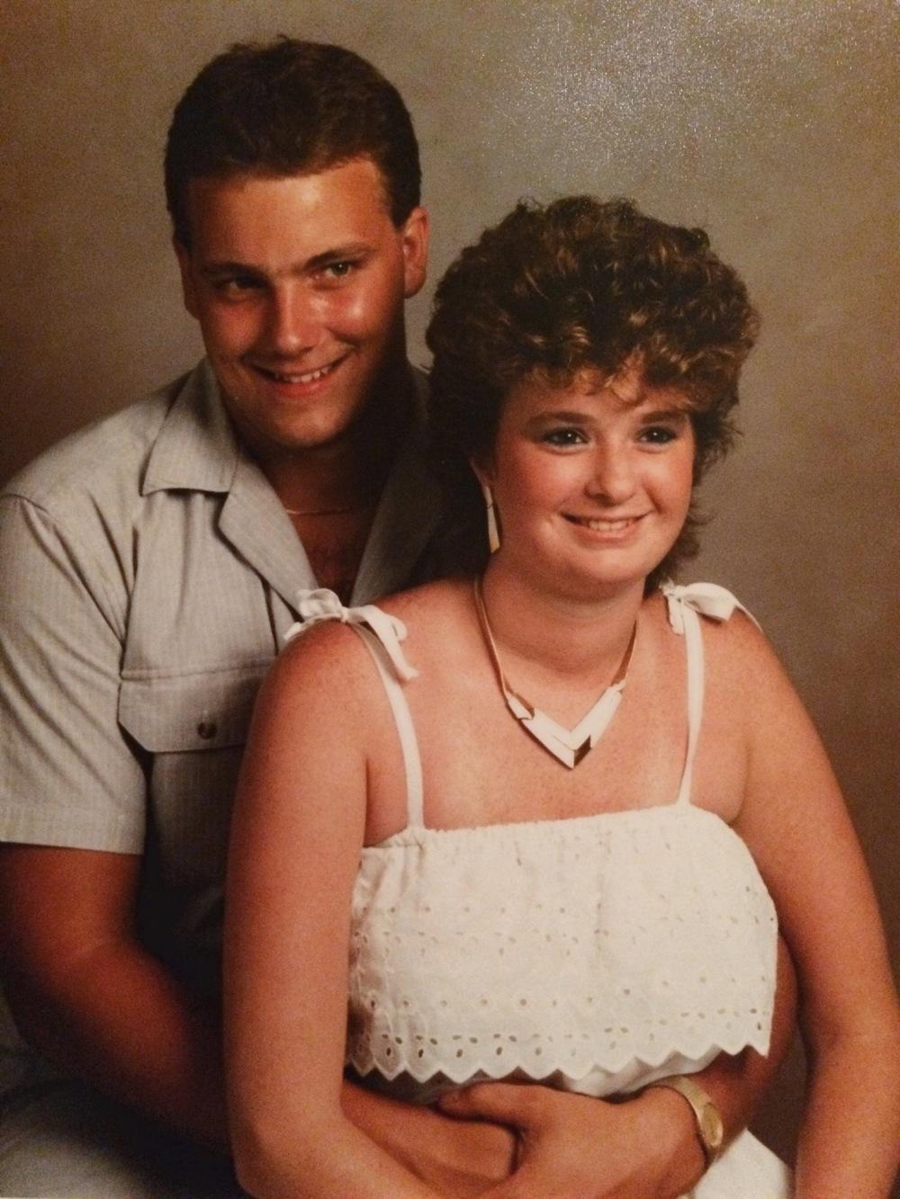 Joe and Kim's engagement photo 1987