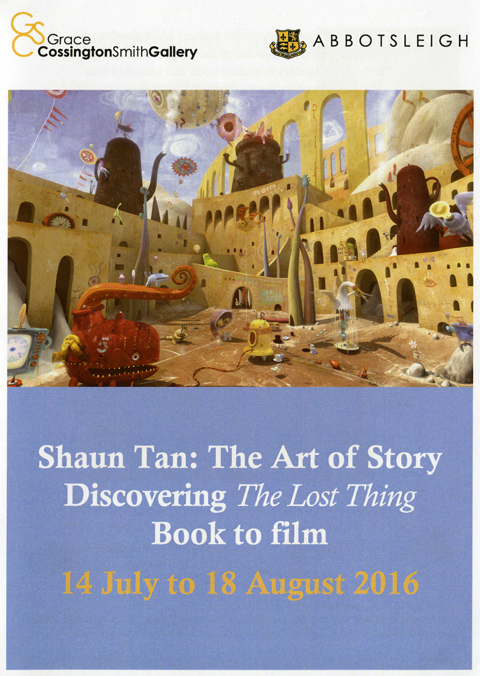 The Shaun Tan exhibition GCS Gallery catalogue front cover