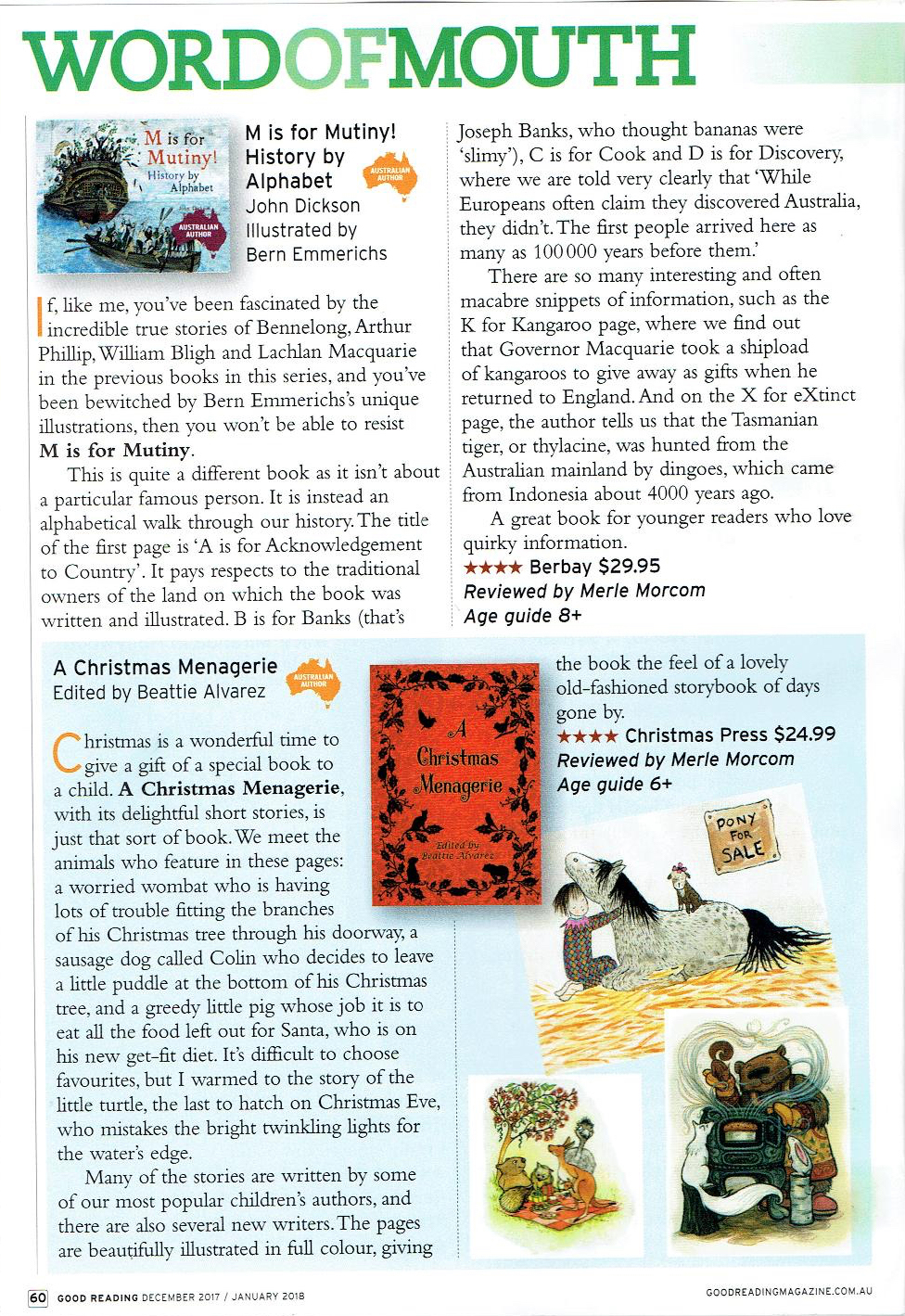 Christmas Press A Christmas Menagerie review Good Reading.jpg