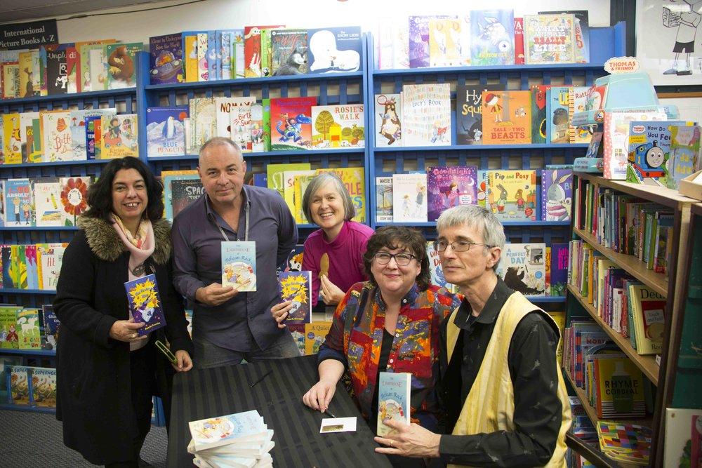 Sophie Masson, Paul Macdonald, Yvonne Low, Pamela Freeman and Stephen Hart.
