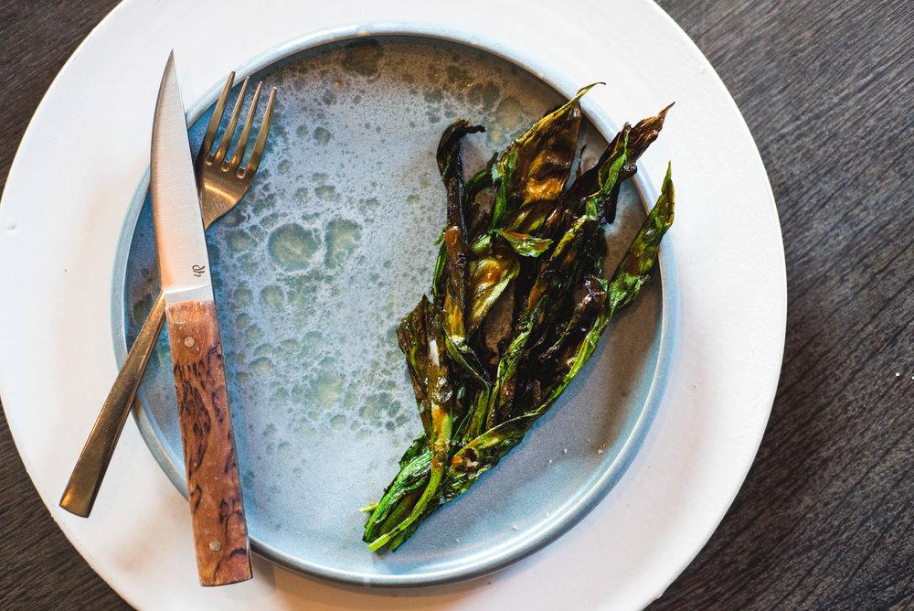 XI. Charred Ramson & Scallop Paste