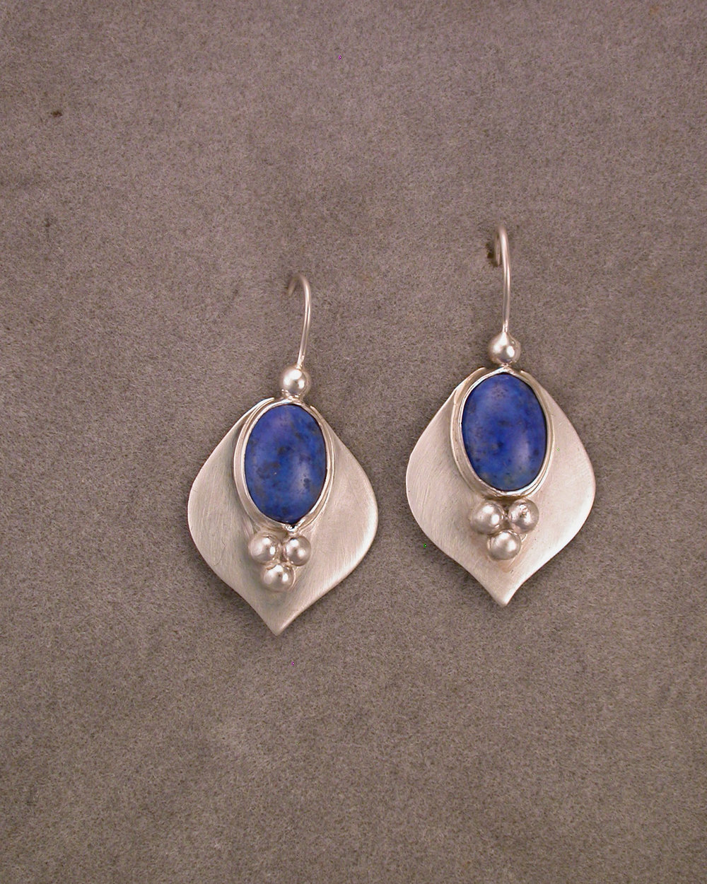 Denim Lapis Loops Earrings