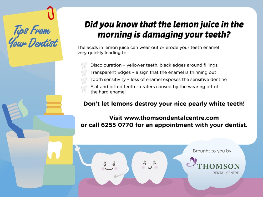 Your teeth and Lemon Juice