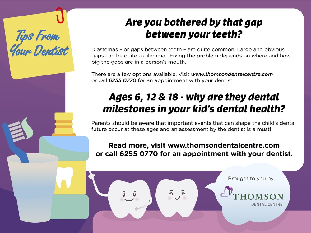 Bothered by gaps between teeth?