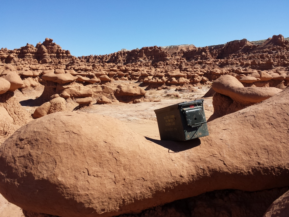 State Park Cache in goblin Valley