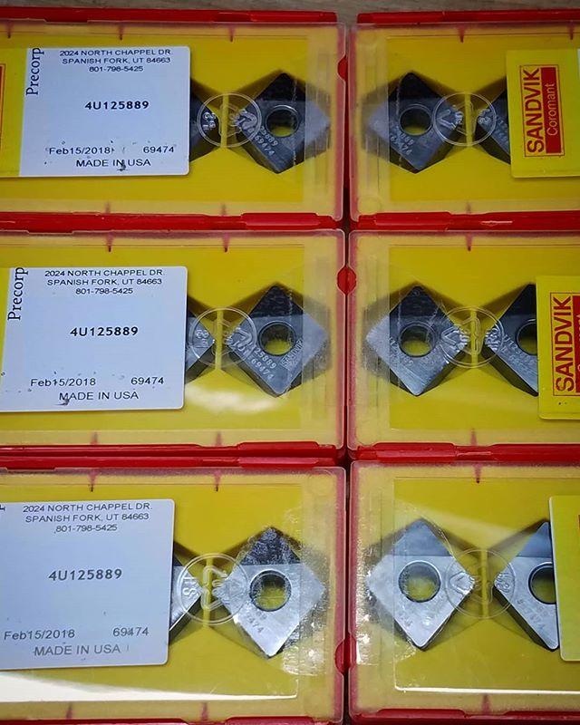 New #sandvikcoromant #pcd #diamond #inserts off to the customer. #machinetools #machinist #machinistlife