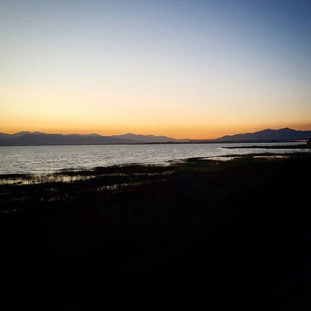 #sunset at #utahlake #geocache #gogeocaching