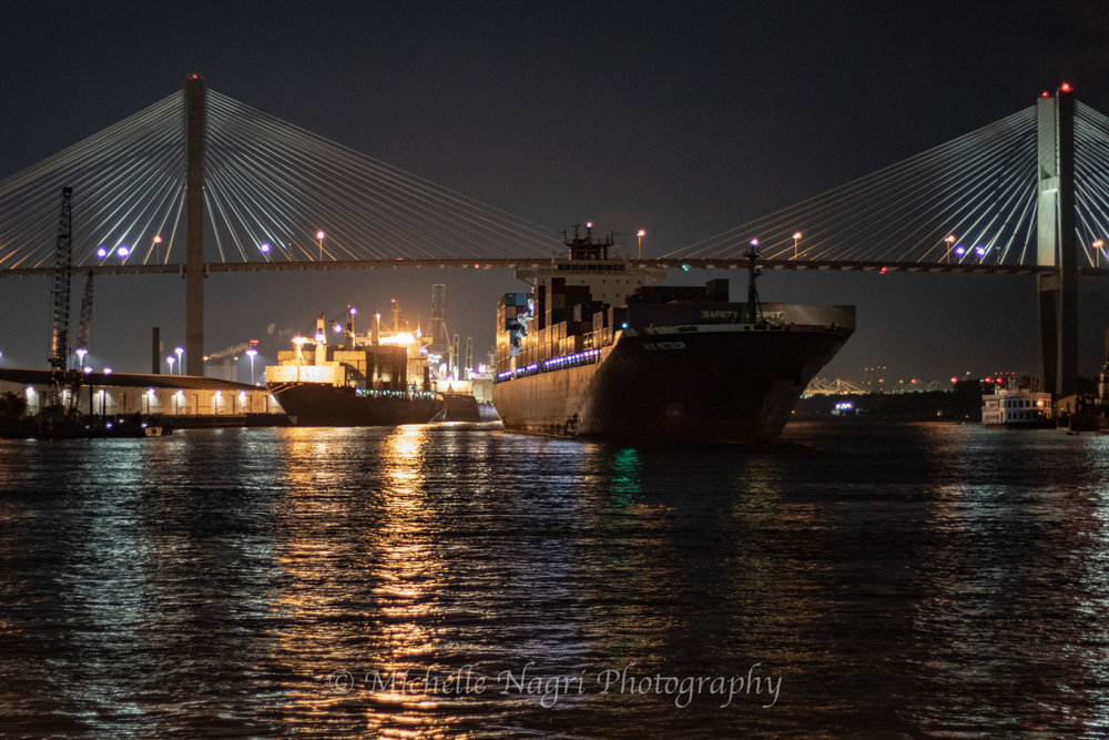 Freighter on the Savannah River.