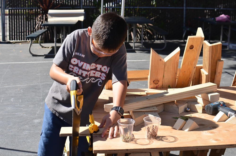 Kyle excelled with the handsaw and helped teach others who had never used it as well.