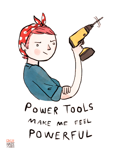 women and power tools