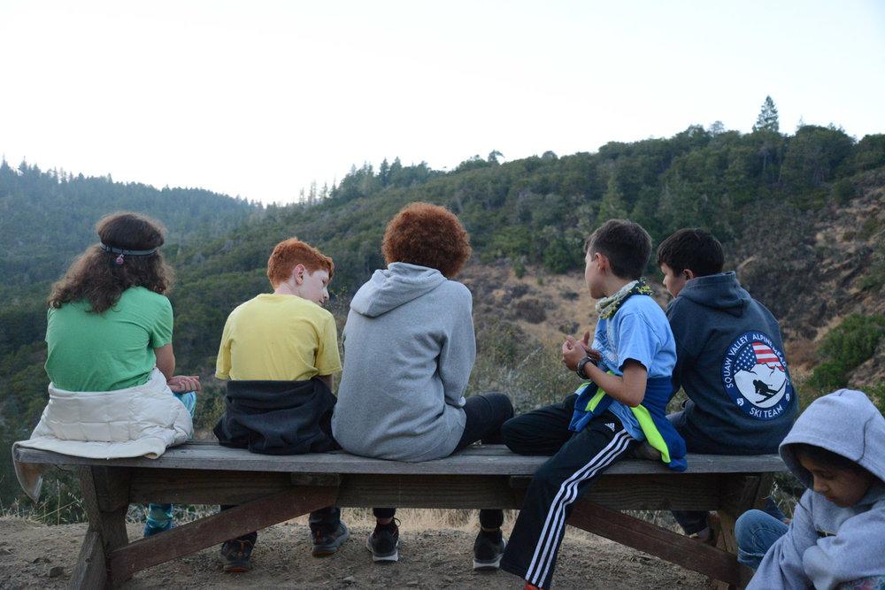 Jackie, Reuben, Makai, Yildiz and Henry enjoy the crest view.