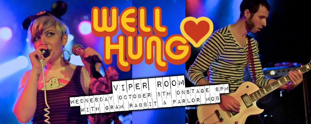 Viper Room Hollywood WEDNESDAY 5th OCTOBER (thats tomorrow folks) We are on stage at 8pm sharp.