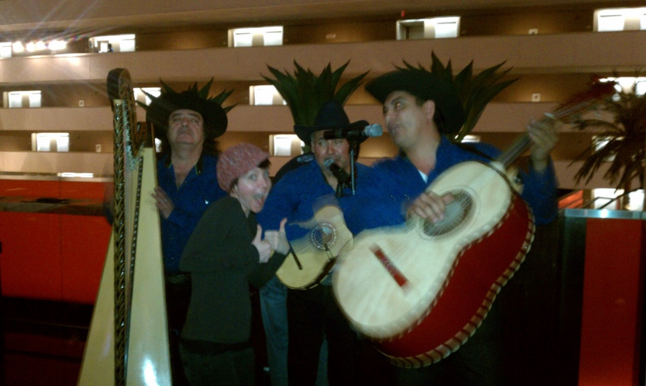 "Vegas Mariachi brunch as they sing ""I'm sexy and I know it."""
