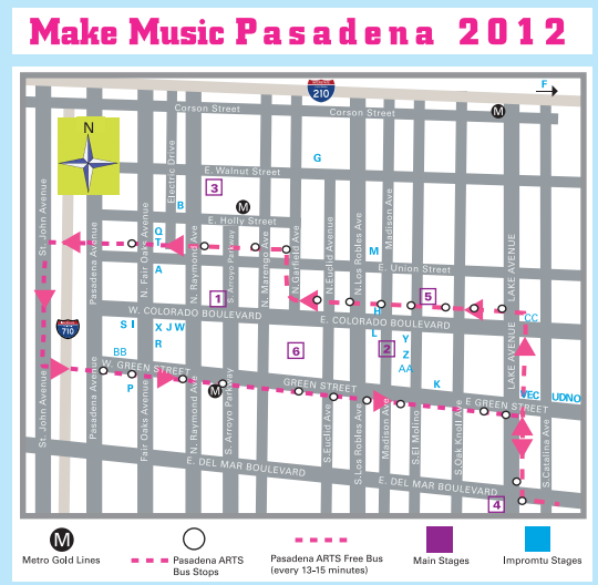 Make Music Pasadena tomorrow at 3pm (SHARP!) in Mercantile Alley. Be dere. It be free.