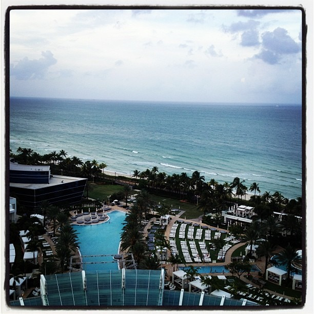 One more trip to miami…hotel room view. #thegoodlife (Taken with  Instagram )