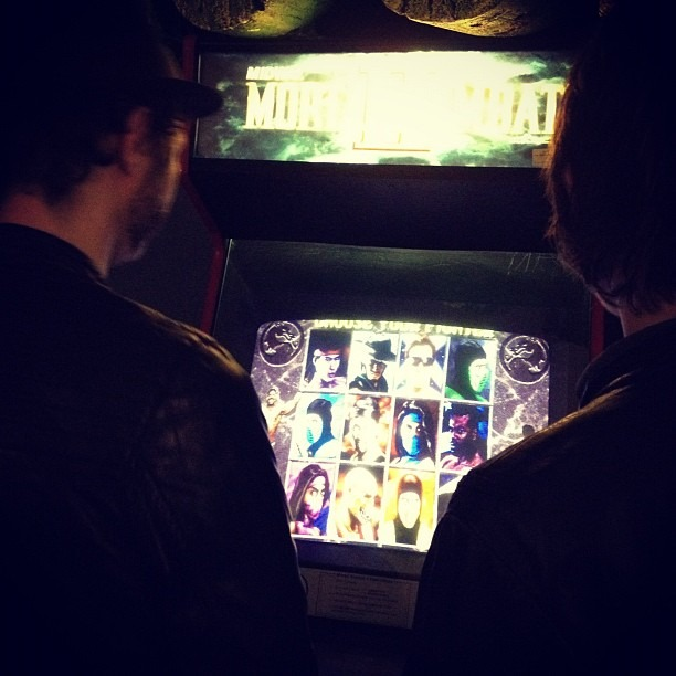 Post-show mortal kombat (Taken with  Instagram )