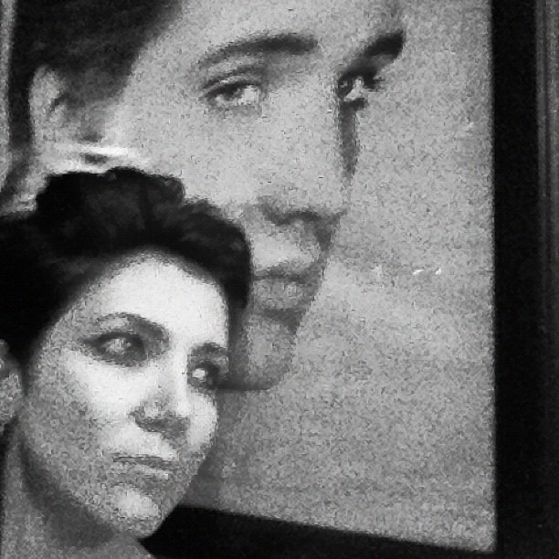 Me n Elvis at the Continental Room. Well Hung Heart at 10pm. (Taken with  Instagram )