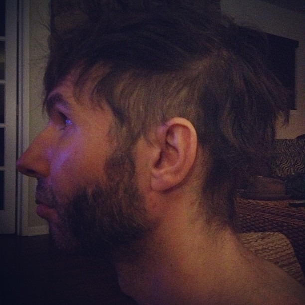 In honor of our silverware gigs in sept, rob felt he needed a douchey haircut. (Taken with Instagram)