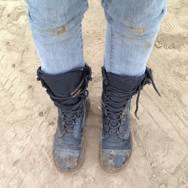 I'm a jeans n mud type of girl (Taken with  Instagram )