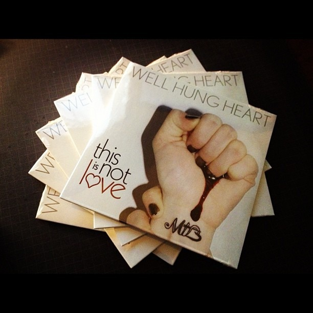 So we printed a few promo CDs… #wellhungheart  #thisisnotlove #gimmie
