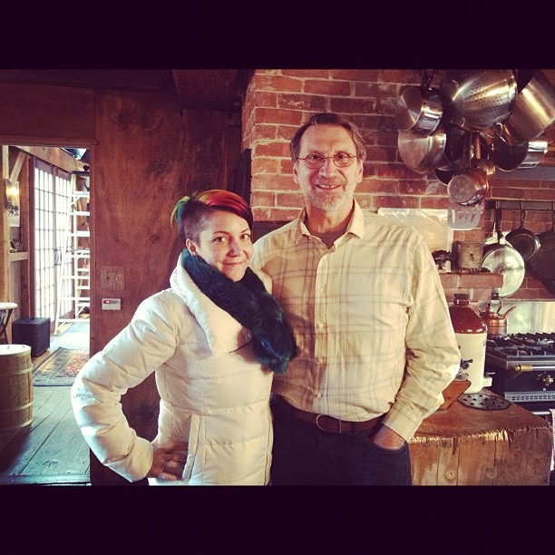 Me n Norm Abram (from This Old House)at Daryl Halls house in upstate NY. #nicestguyever