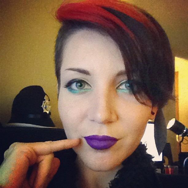 Post makeup! Time for photos. #macmakeup #blackmilkclothing #photosisfun