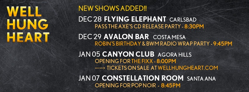 Shows THIS WEEKEND and New shows added!