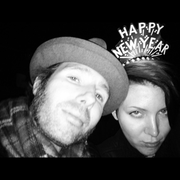 About to get our new year on with Cake! Ps they gave us the nye hat…