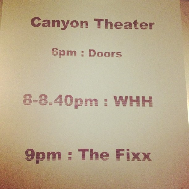 Tonight's show #thefixx  #wellhungheart
