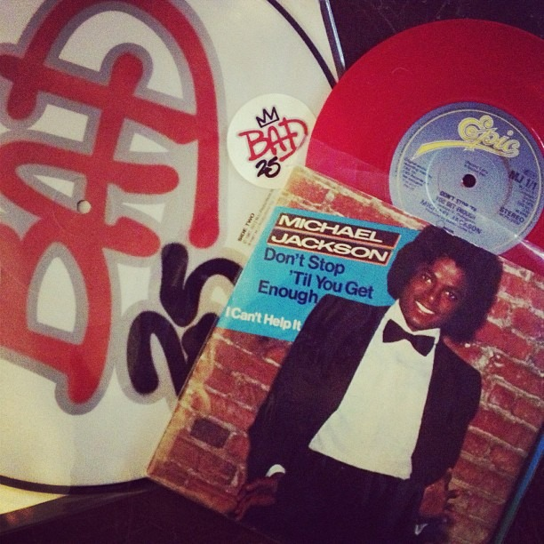 This is why thrift stores are awesome! #michaeljackson #vinyl #bad #offthewall #cantstoptillyougetenough #recordsrule