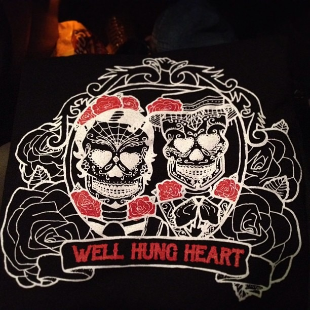 Tees are in!! #sugarskulls #youngenoughtoknowitall #wellhungheart @wellhungheart