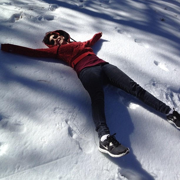 Arizona SNOW!!! #snow #yellowsnow #hard #snowangel #dennys