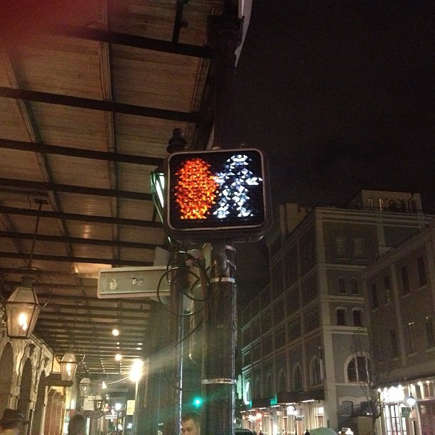 Even the signs are #drunk here . #neworleans #louisiana #stpattysday #streetsign #goodbye (at JAX Brewery & Bistro Bar)