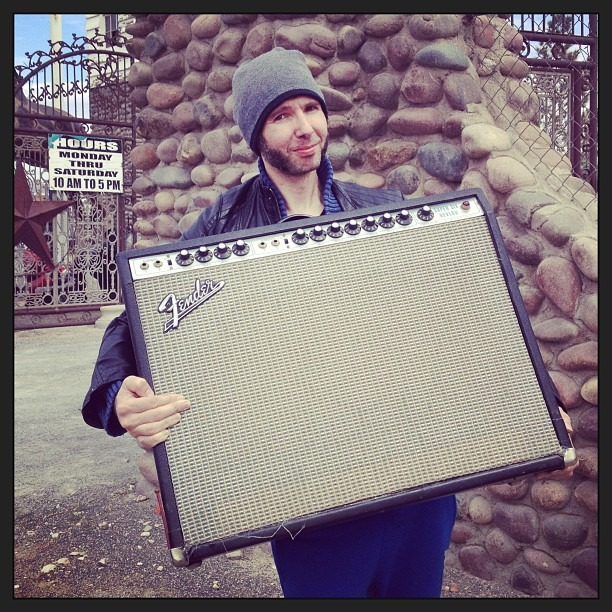 And then we found a 1972 Fender Super Six Reverb Modified…Robin is happy…