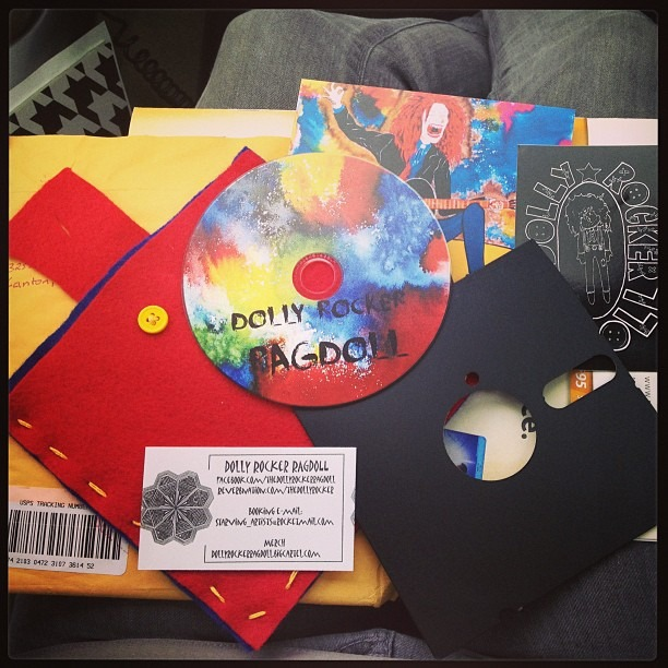Coolest album packaging ever! @DollyRockerRagDoll #floppyDisc #classic #creative