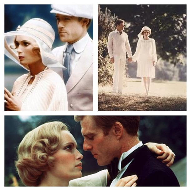The sure the new version of The Great Gatsby will be fun, but you can't beat the 1974 version of the film! #RobertRedford #MiaFarrow #pureClass #Romance #beauty #Classic #OldSkoolDoneRight #Old=Better #wellhungheart #wellhunglove #TheGreatGatsby #gatsby (at GROWvision Studios)