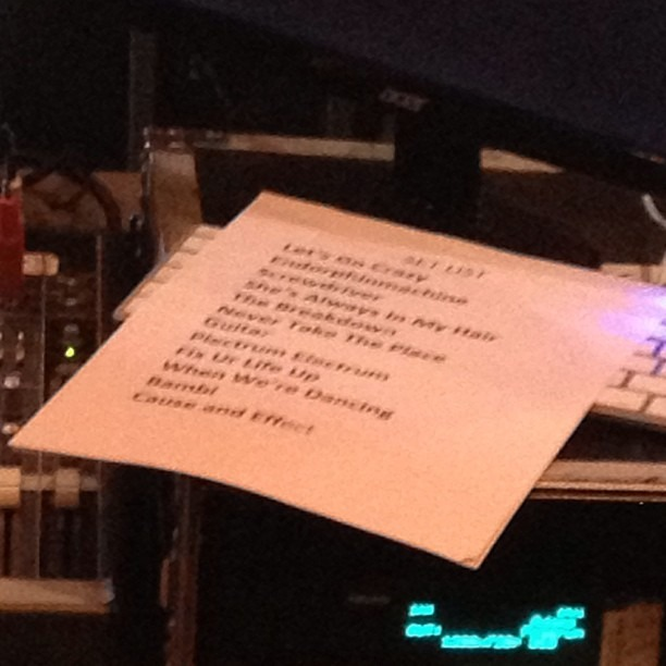He he he #prince #setlist !!! Sneak attack! (at City National Grove of Anaheim)
