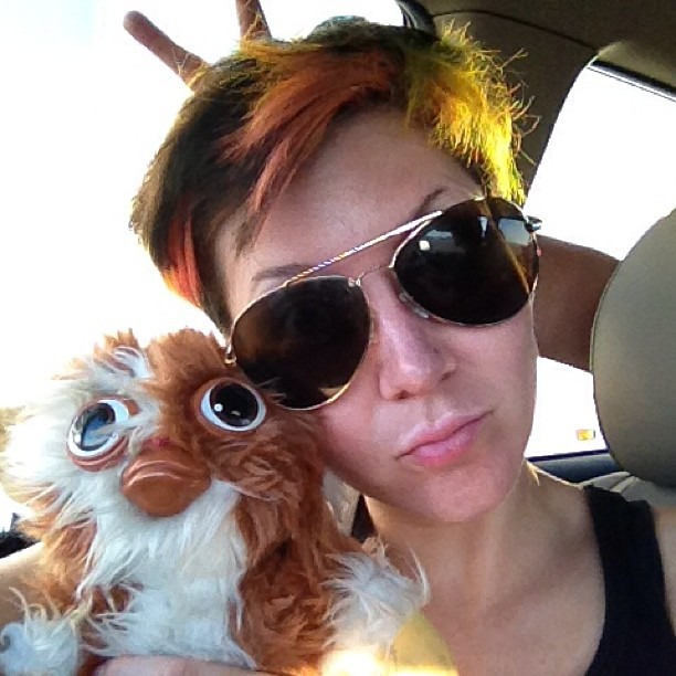 #roadtrip @wellhungheart #mogwai #gremlin #gizmo      @gretavalenti play with me at #SnapChat @wellhungheart (at Yermo Exit somewhere on 15 .)