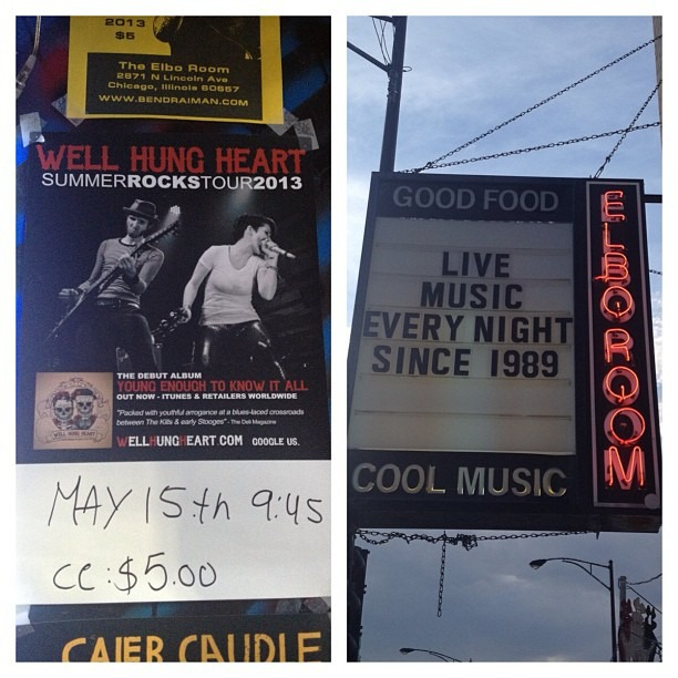 @wellhungheart tonight @ Elbo Room #chicago