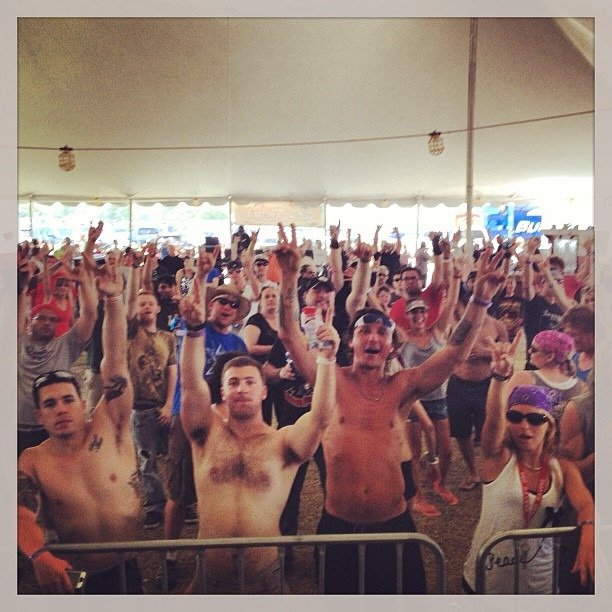 Our crowd at @rocklahoma !!! @wellhungheart @therobindavey @nicopriest @gretavalenti