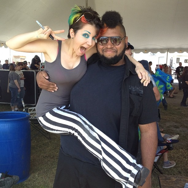 Me n J!!! @rocklahoma second time I got picked up this weekend… #midgetproblems