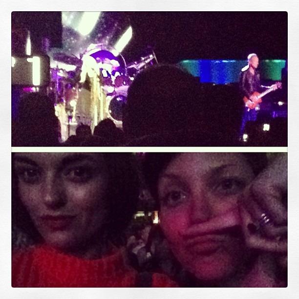 Me n @thekrystalbecker having #sexytime @ the #fleetwoodmac concert. #girltime #hondacenter