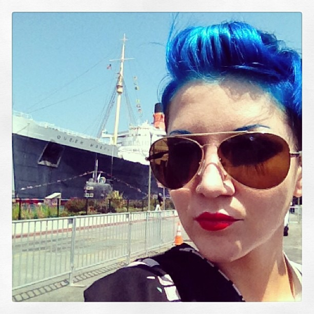 im on a fucking boat! #thequeenmary #inkniron @wellhungheart (at The Queen Mary)