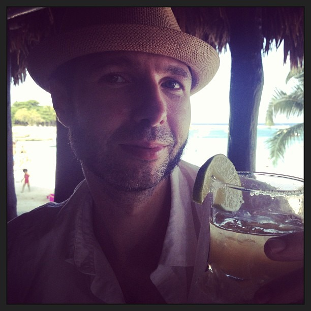 Margarita Time!! Best drinks in #akumal at Lol Ha!!! (at Lol Ha)