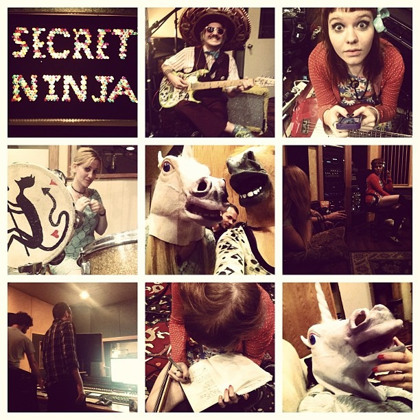 LOTS of hard work tonight with @wellhungheart & @mrclitandthepinkcigaretteshere at @secretninjastudios … we gott 'er done!  (at Secret Ninja recording Studios)