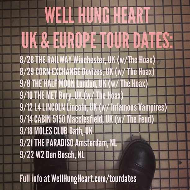 Upcoming #UK and #Netherlands #TourDates ! @WellHungHeart #TheNetherlands #Holland #England #RockNRoll #SummerRocks #YoungEnoughToKnowItAll