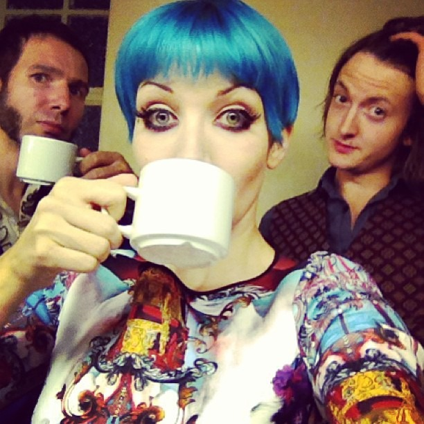 #CuppaTea anyone? @wellhungheart pre-show SUPER HUGE Thank You to The Hoax for having us open for them!! Now onto Tour Part Two!!! Thursday in Lincoln, Saturday in Macclesfield!