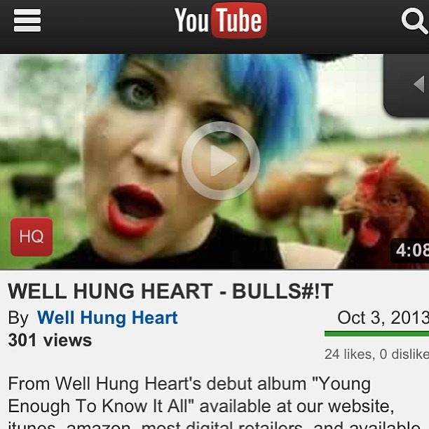 Go watch our @WellHungHeart new video BULLS#!T released today!  http://youtu.be/9NGytuT8nGg  #bullshit #governmemtshutdown