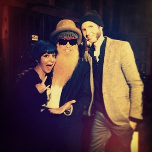With one of our influences and the king of bad ass, mr #billygibbons #zztop #wellhungheart